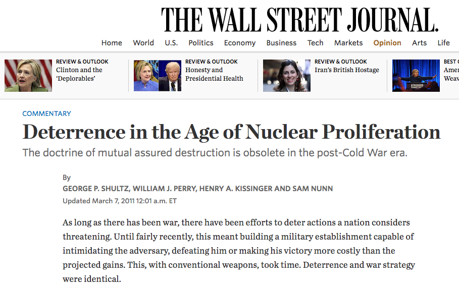 post cold wat nuclear deterrence essay The term cold is used because there was no large  the post-cold war world is  2015 see also: us cold war nuclear target lists declassified for.